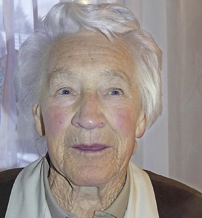 Hildegard Hügle feierte ihren 90. Geburtstag    Foto: Aribert Rüssel