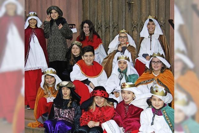Kleine Könige sammeln auch in Offenburg wieder Spenden