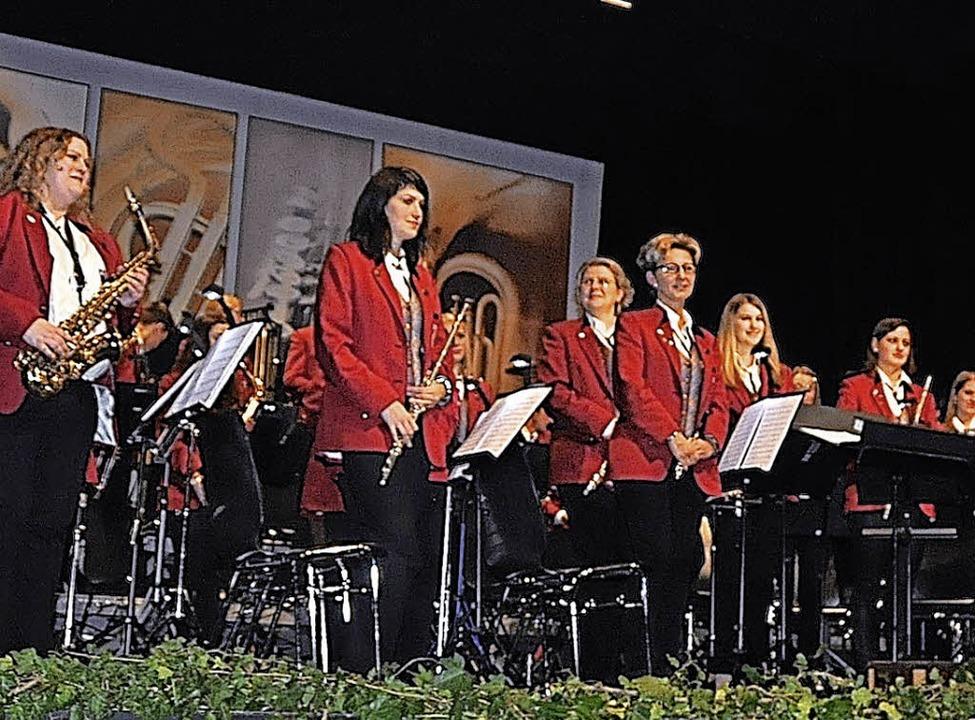 Viel Applaus gab es für dieAktiven des Musikverein s Denzlingen nach dem Konzert  | Foto: Herbert Geisler