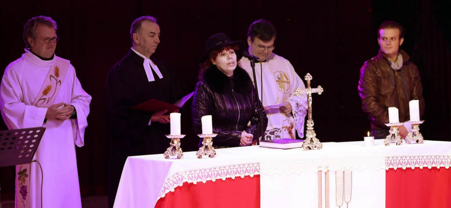 Ökumenischer Gottesdienst in der Manege: immer wieder gerne gesehen und gehört   | Foto: berthold Bauermeister