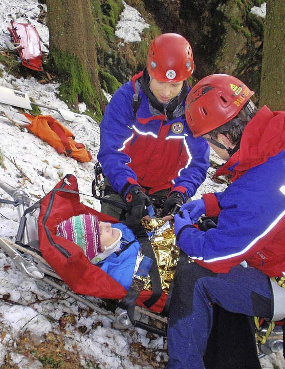 Die Bergwacht hat die Versorgung und d...fige Situation bei Rettungseinsätzen.   | Foto: Verein