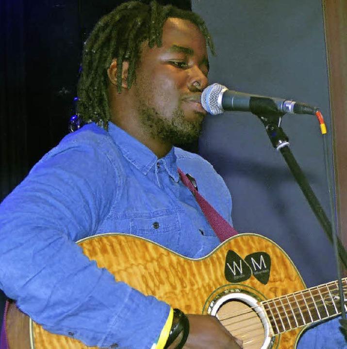 Wandile Mbambeni eröffnete in diesem Jahr das Konzert.    Foto: Marion Rank