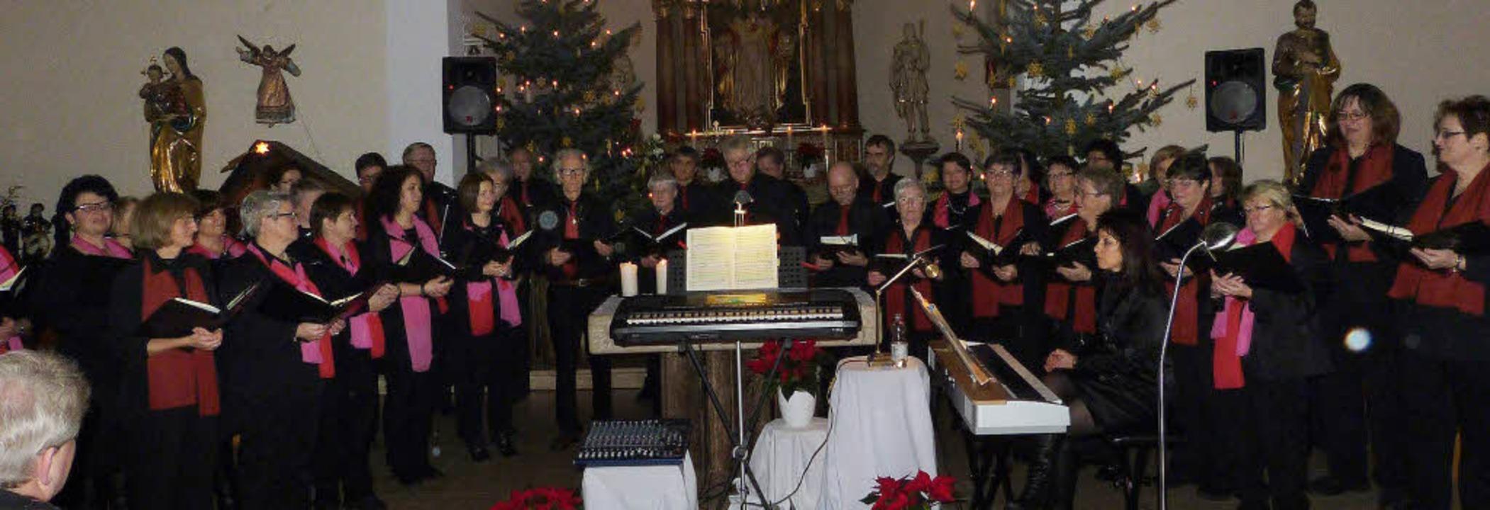 Die Kirchenchöre Strittmatt und Herris...che  die Krönungsmesse von Mozart auf.    Foto: Sigrid Schneider
