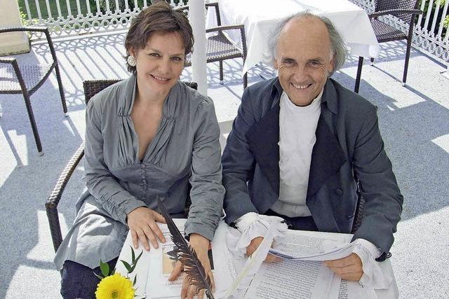 Petra Seitz und Martin Lunz lesen in Badenweiler