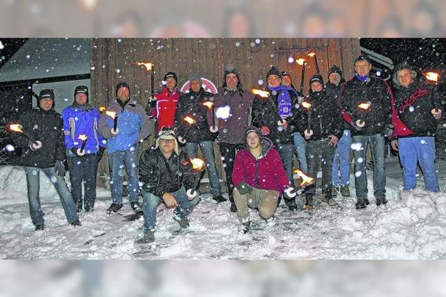 Fackeltour im Schnee