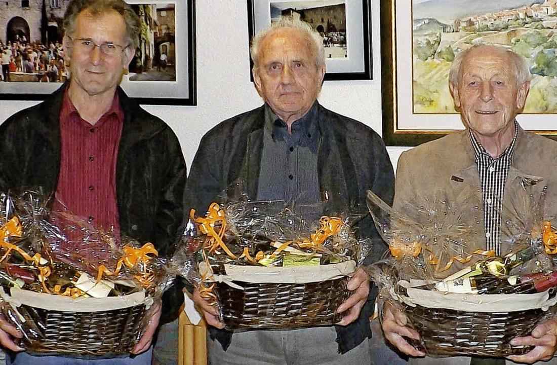 Jahrzehntelang kommunalpolitisch Veran...links) wurden im Herbst verabschiedet.    Foto: Wolfgang Adam