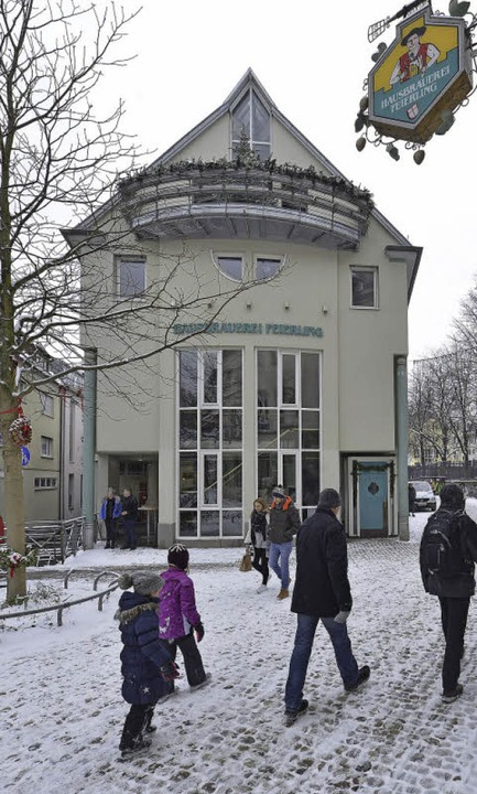 Seit 25 Jahren in der Gerberau: die Ha... mit dem gegenüberliegenden Biergarten    Foto: Michael Bamberger