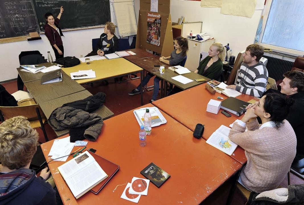 Sieht aus wie Schule, ist aber ein Tei...bstorganisierten Methodos-Lerngruppe.   | Foto: Thomas Kunz