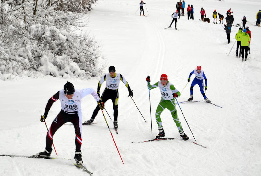 Kraftakt: Viele Langläufer standen  am...enden Winter auf den schmalen Latten.   | Foto: helmut junkel