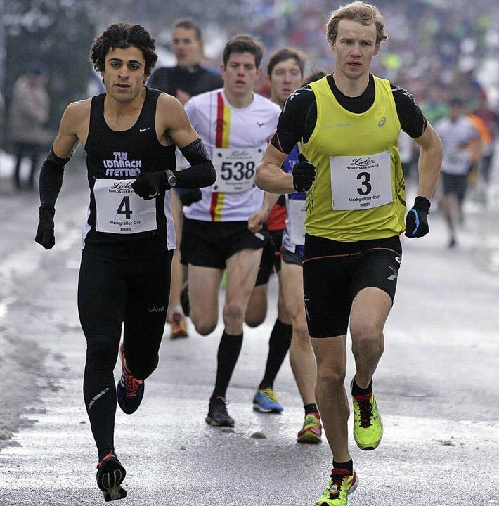 Die Matadoren des Laufes nebeneinander...areg (Nummer 4) und Lukas Naegele (3).  | Foto: Winfried Stinn