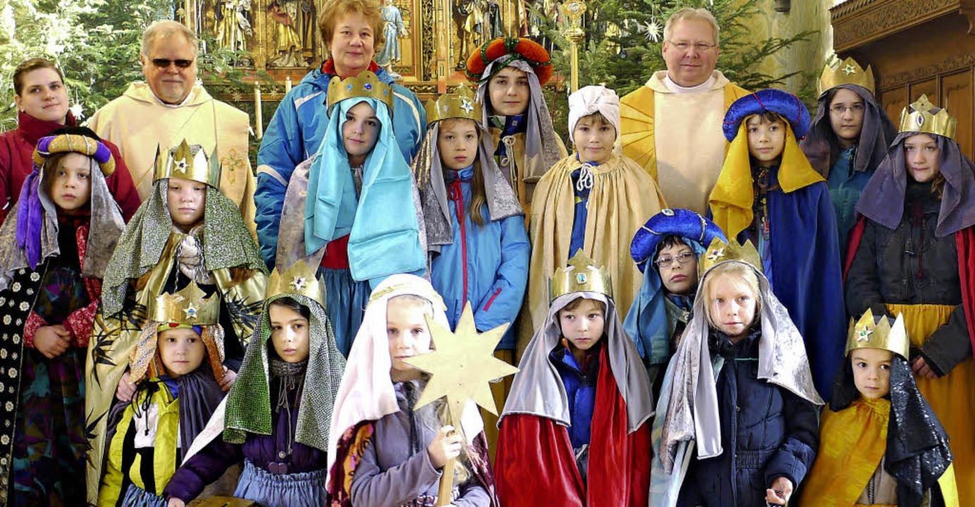 Bis Sonntag sind in Öflingen die Sternsinger unterwegs.   | Foto: Hans Loritz