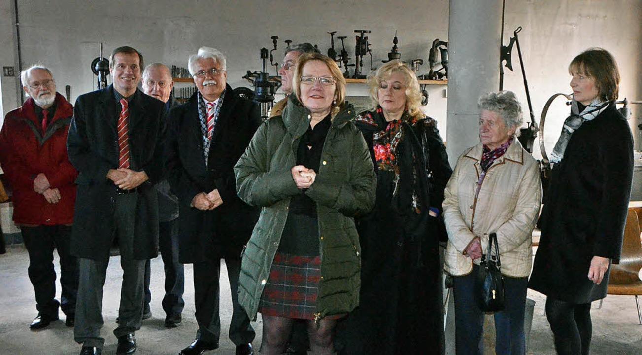 Treffpunkt Schmiede Nollingen: Karin P... Klaus Eberhardt (Zweiter von links).   | Foto: Ingrid Böhm-Jacob