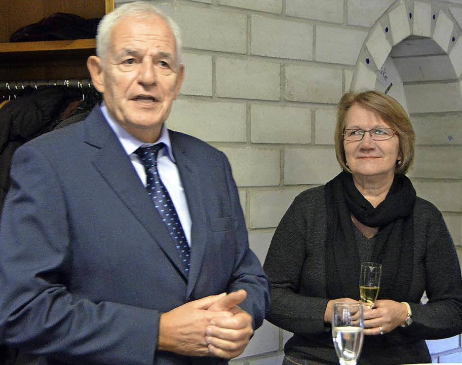 Die Vorsitzende des SPD-Ortsvereins, K...rach  zu  Landes- und Kommunalpolitik.  | Foto: Ingrid Böhm-Jacob