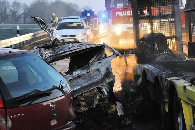 38-Jähriger stirbt bei Unfall auf der A5 – lange Vollsperrung