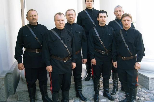 Die Maxim Kowalew Don Kosaken singen in Haltingen