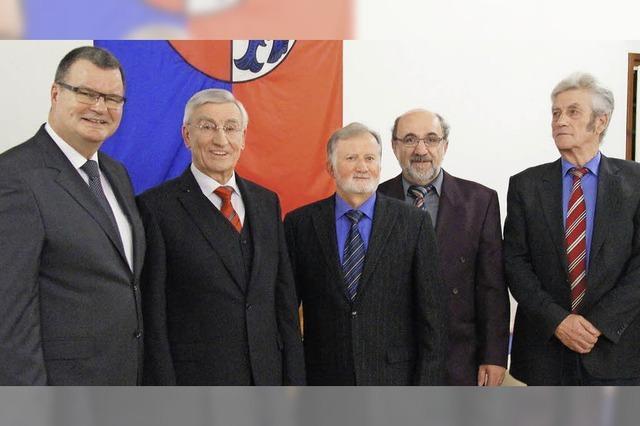Vier neue Stadtälteste in Kenzingen