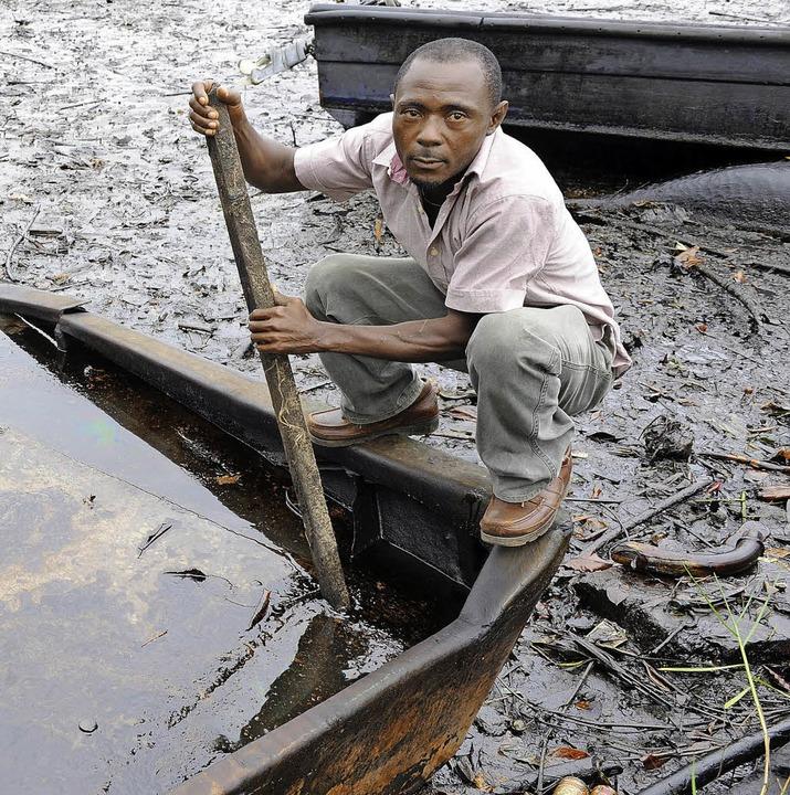 Überall Öl – Bilder aus der Region Bodo in Nigeria.    | Foto: AFP
