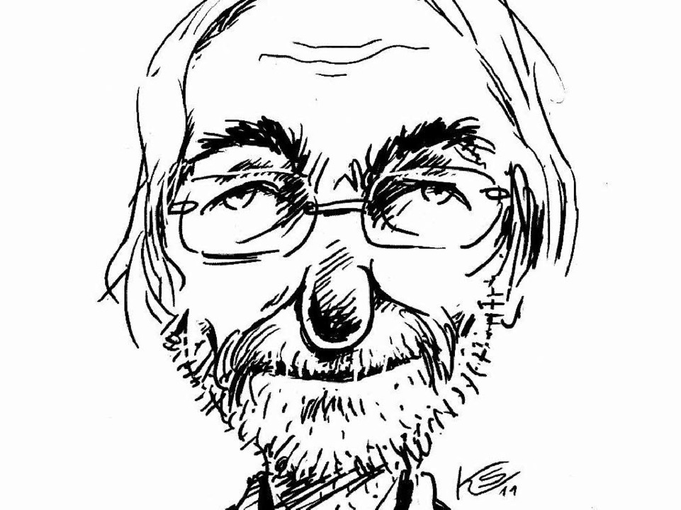 Stuttmann im Selbstporträt. Der Karika...r sich nicht im Fernsehen äußern will.    Foto: Klaus Stuttmann