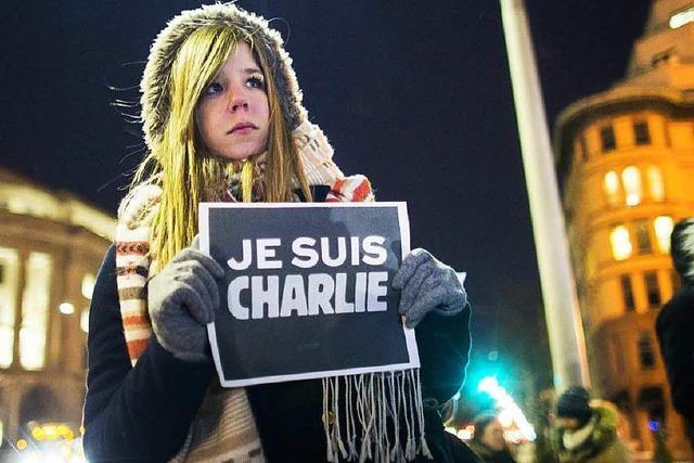 Solidarität mit Charlie Hebdo: Trauer auch in Straßburg
