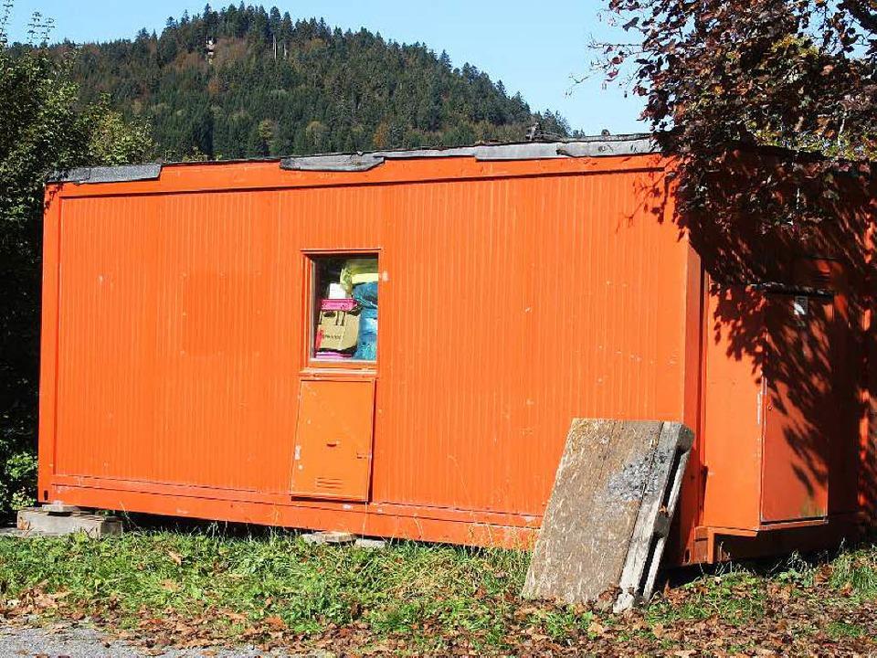Der Wohncontainer in Todtmoos wurde erneut Ziel eines Angriffes.