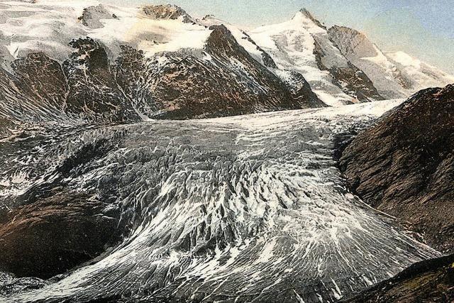 Der Eispanzer über den Alpengipfeln schwindet