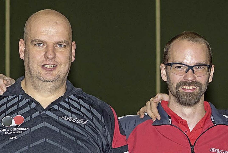 Doppel meister v.l. Matthias Burzcyk ,...pel 1., Ralf Bächle, Fabian Bargel 2..  | Foto: ZVG