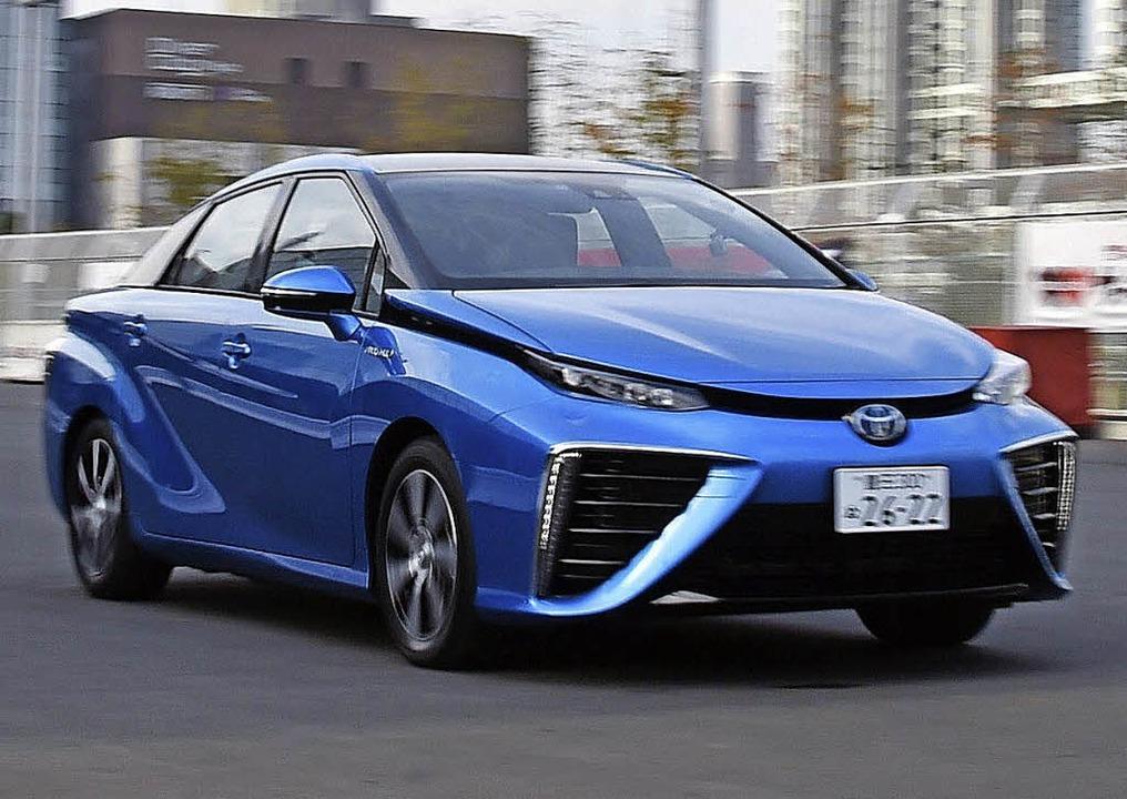 Fährt mit Brennstoffzelle: der neue Toyota Mirai     Foto: afp