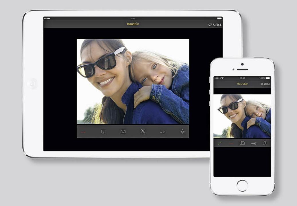 Wenn die Freundin mit Tochter vor der ...h die Siedle-App via iPad oder iPhone.    Foto: PR / Siedle