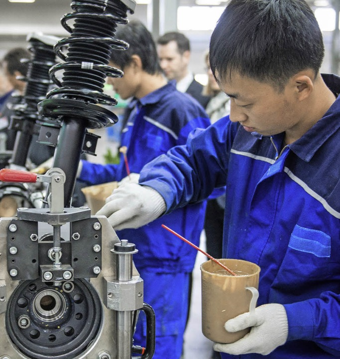 Achsenmontage in Peking  | Foto: Ole Spata