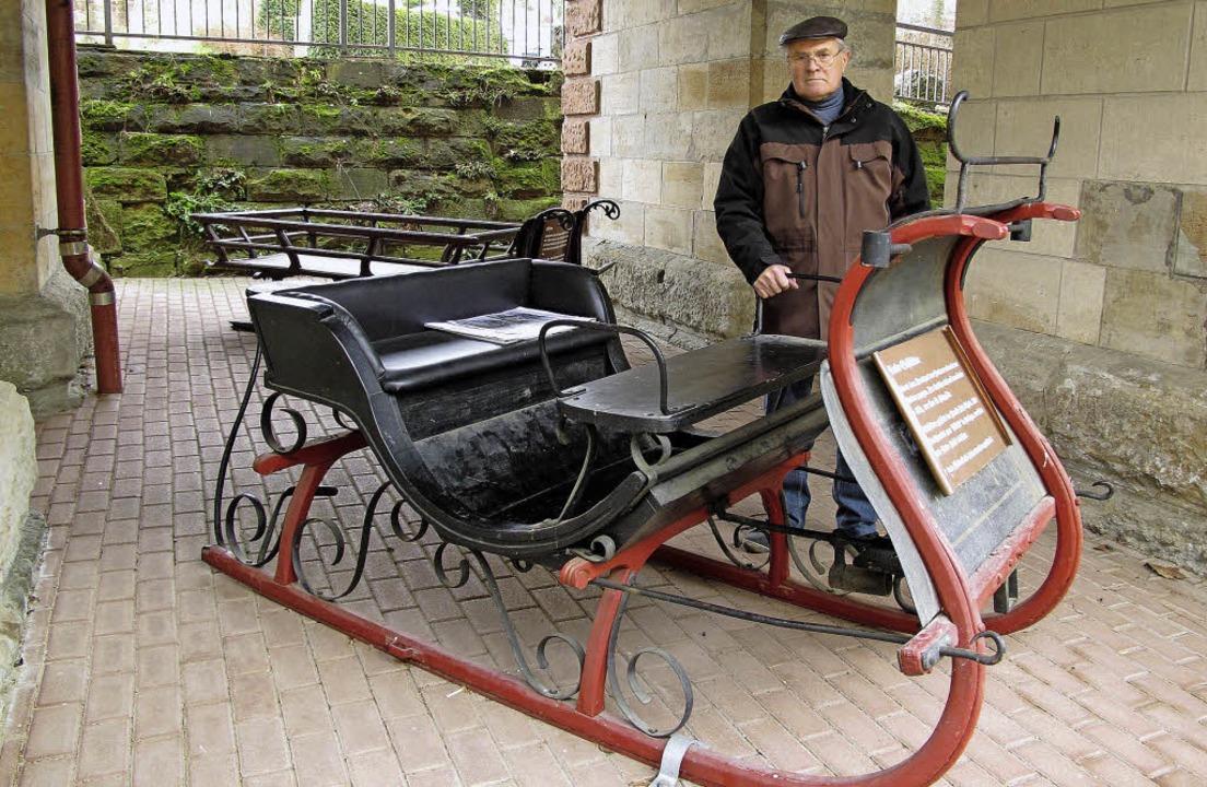 In der Bogenstelli unter der Eisenbahn...eimatmuseum mit einem Pferdeschlitten.  | Foto: Jutta Schütz