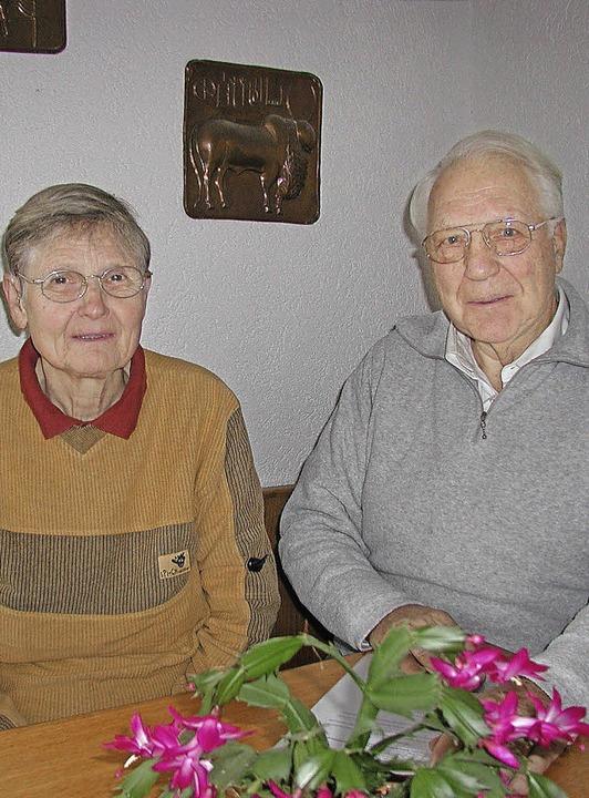Ruthild und Detlef Meyer-Oehme in ihrem Haus in Auggen   | Foto: Dorothee Philipp