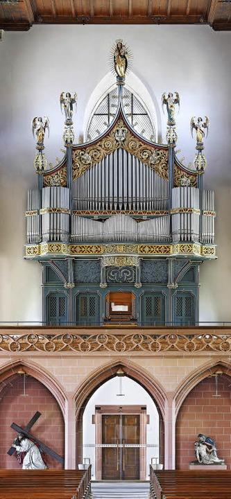 Eine beeindruckend große Orgel in eine...nster sollen auch repräsentativ sein.   | Foto: Erwin Reiter