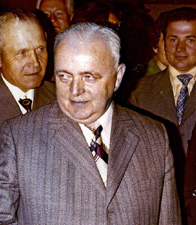 Bürgermeister Erich Bayer: Nach der Wahl, Mai 1975.   | Foto: BZ-Archiv
