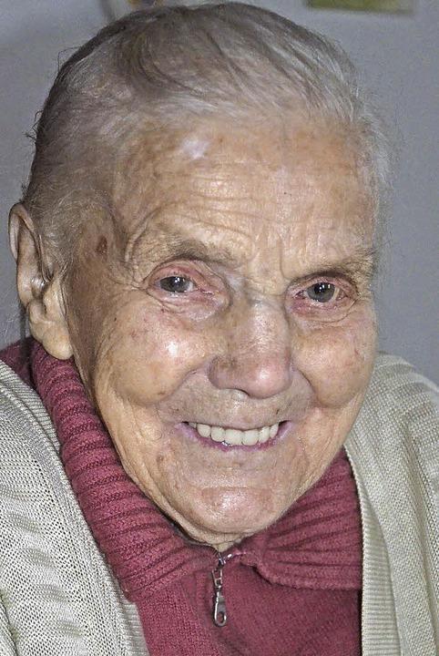 Luise Fehrenbach wird heute 100 Jahre     Foto: A.  Wehrle
