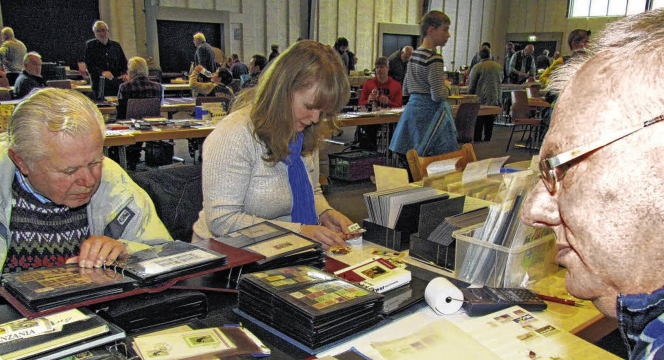 Tauschen und Kaufen ist angesagt beim ...g der Münzen- und Briefmarkenfreunde.     Foto: Privat