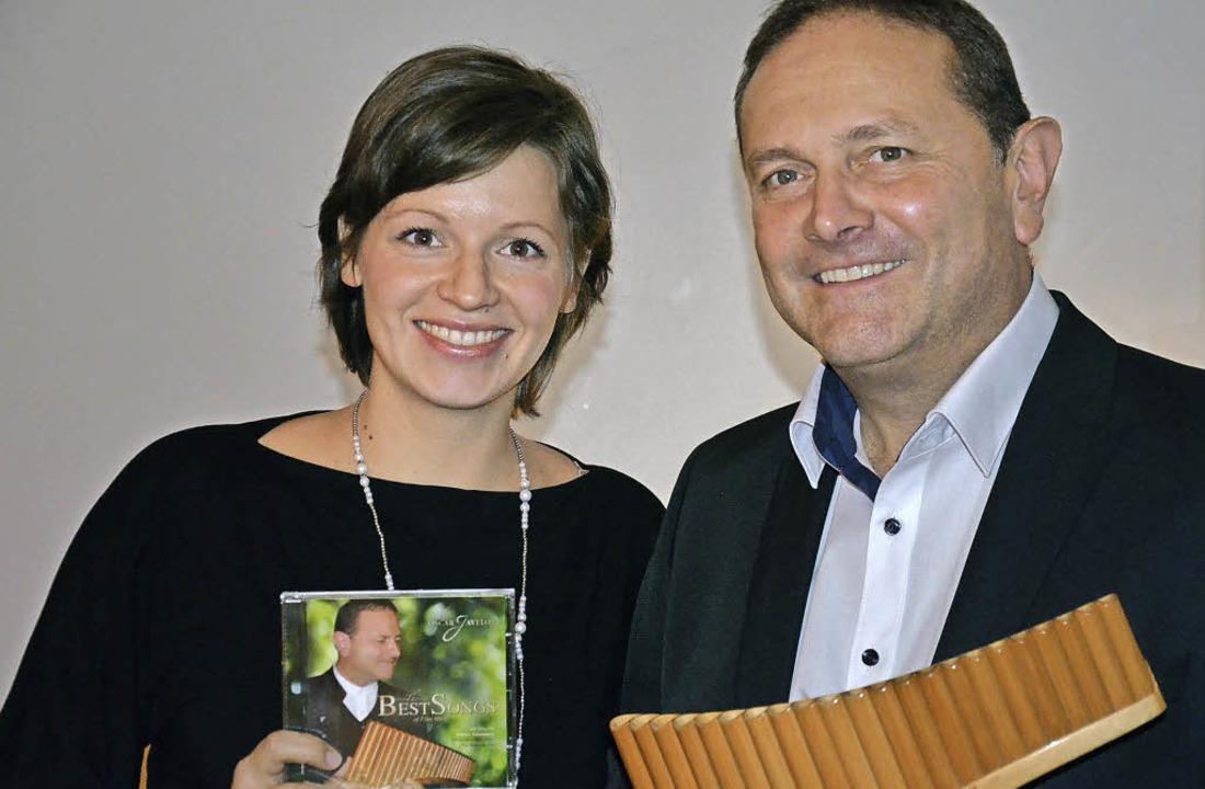 Oskar Javelot mit Frau Bettina Ankermann    Foto: Alexandra Wehrle
