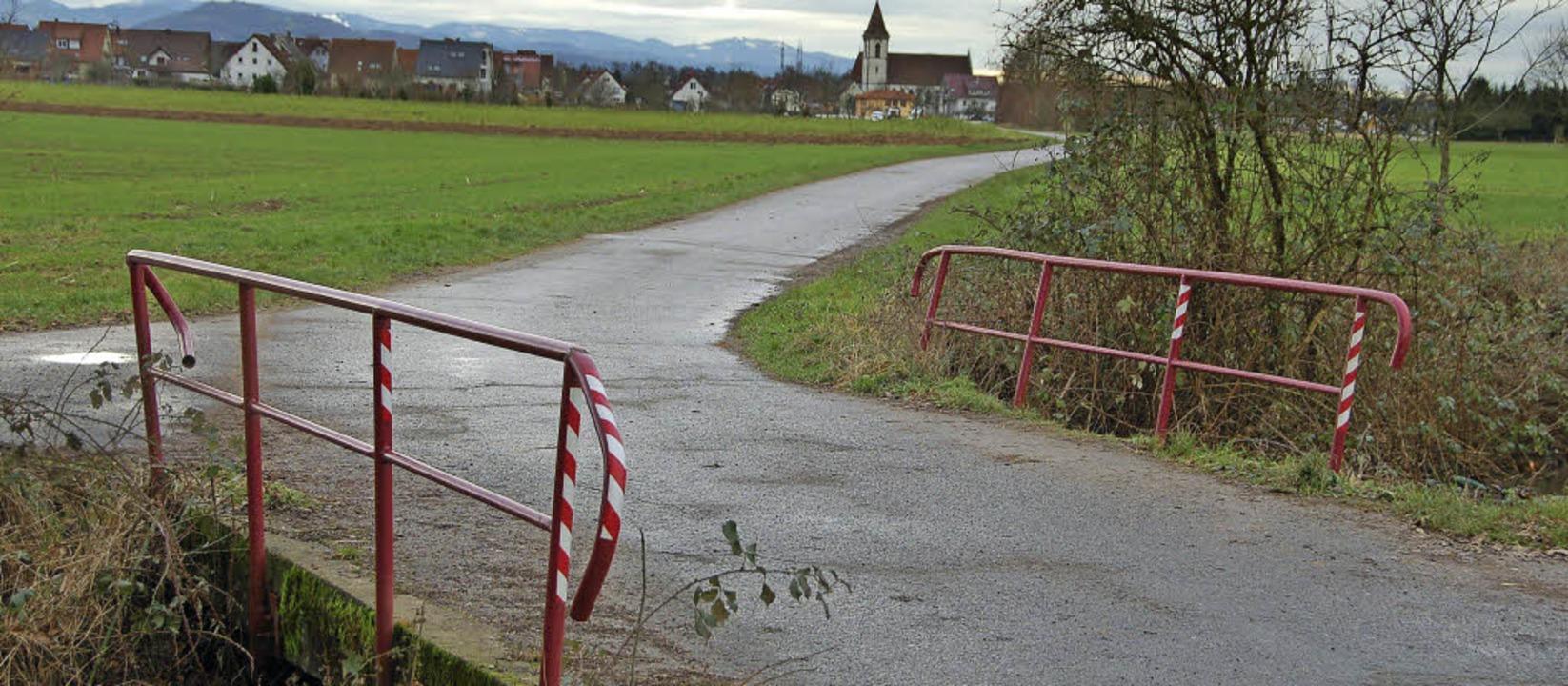Die Brücke über den Waldbach in Reute ist sanierungsbedürftig.    Foto: Pia Grättinger