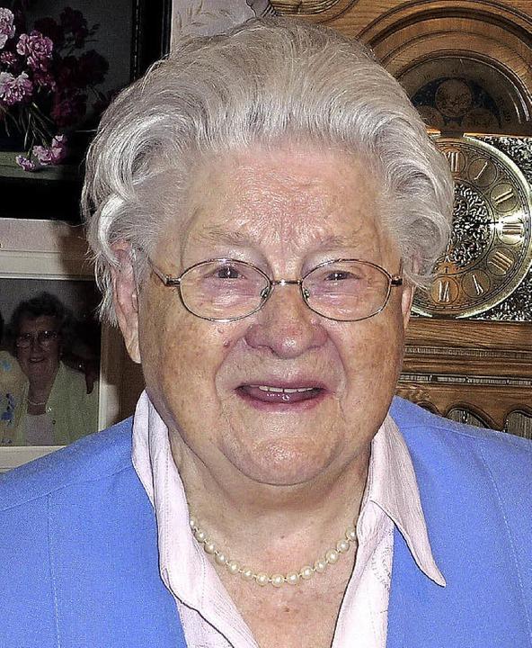 Anastasia Turek wurde 90 Jahre alt und feiert das  mit der großen Familie.  | Foto: Karlernst Lauffer