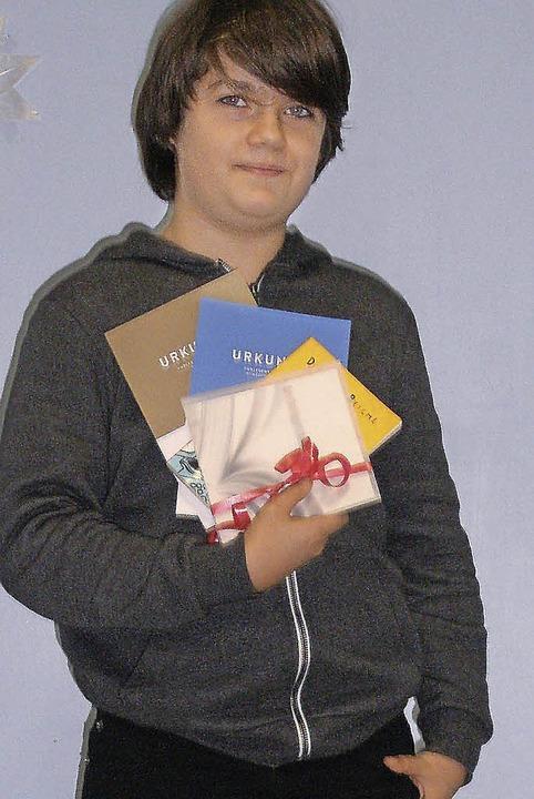 Vorlesesieger an der Landeckschule ist Silvio Weber.  | Foto: privat