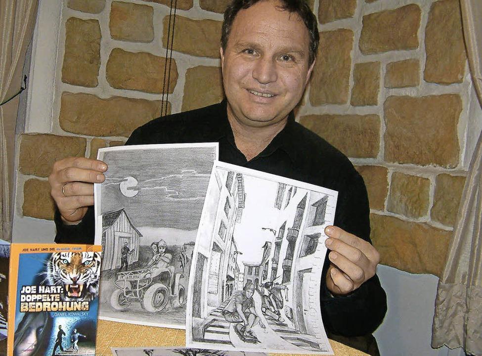 <Text>Jugendbuch-Autor Daniel Kowalsky...r Joe-Hart-Reihe  illustrieren</Text>.  | Foto: Frey/Privat
