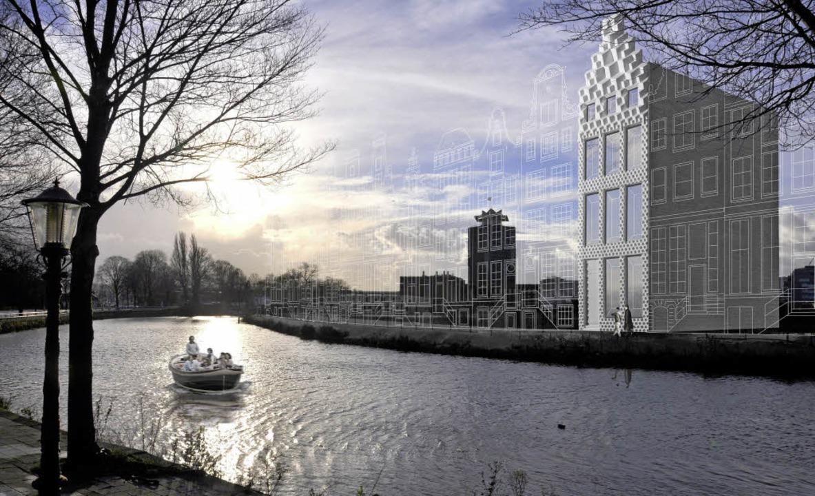 So stellen sich die Architekten  das H... und weitere angedeutete – vor.   | Foto: Illustration:3D Print Canal House (dpa)