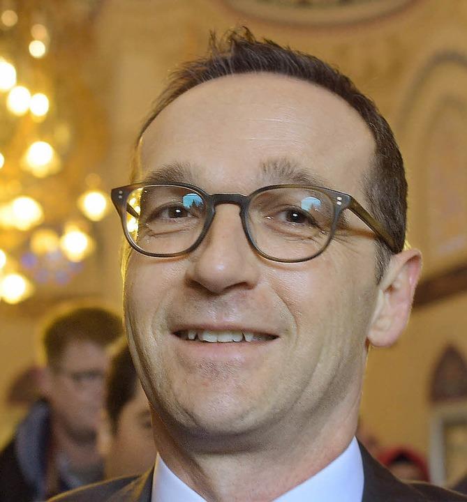 Justizminister Heiko Maas     Foto: DPA