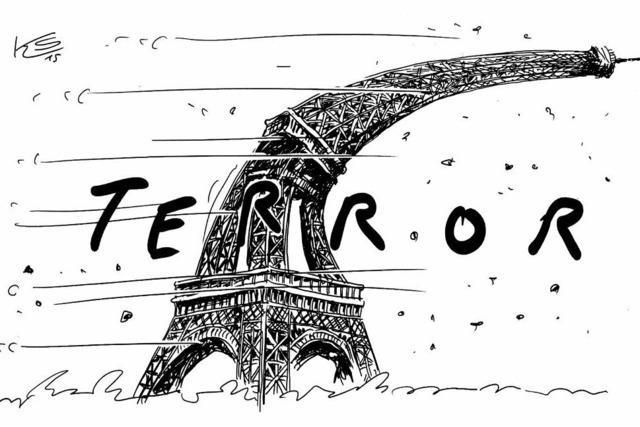 Sturmtief über Frankreich