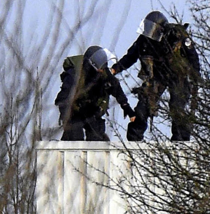Einsatz in Dammartin-en-Goële     Foto: AFP