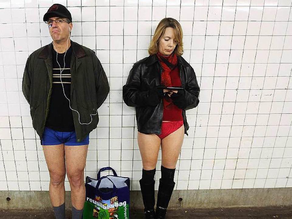 Warum nicht mal ohne Hose?  | Foto: AFP