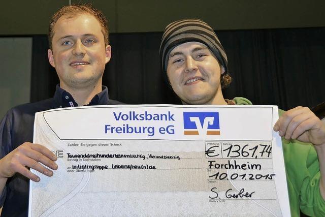 2709 Euro für Hilfsaktion
