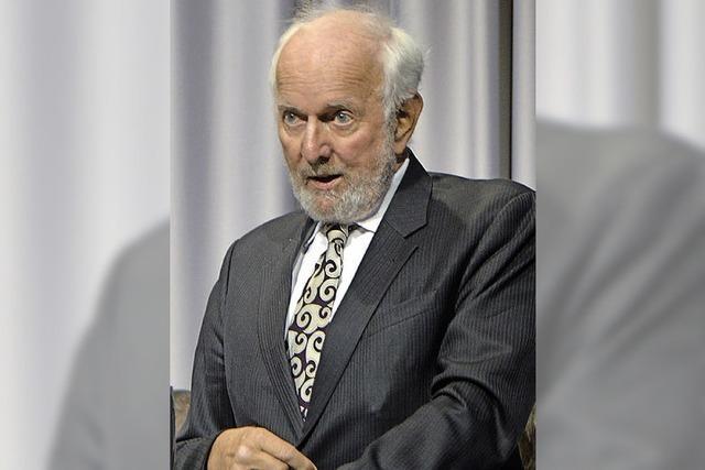 Ernst Ulrich von Weizsäcker in Emmendingen: Eindrucksvolle Gedanken zum Jahreswechsel