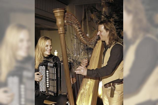 Keltische Harfe trifft auf Akkordeon