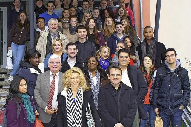 New Yorker Schüler zu Besuch am Waldkircher Berufsschulzentrum