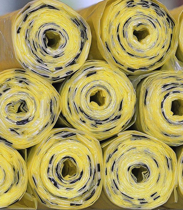 Manchmal nur einzeln vorrätig: der gelbe Sack  | Foto: BAMBERGER